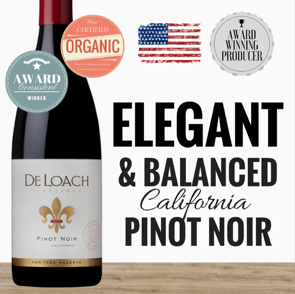 2013 Pinot Noir by Deloach. California's premium red wine. Order affordable wines online from Pop Up Wine singapore. Fast delivery in 24hr.