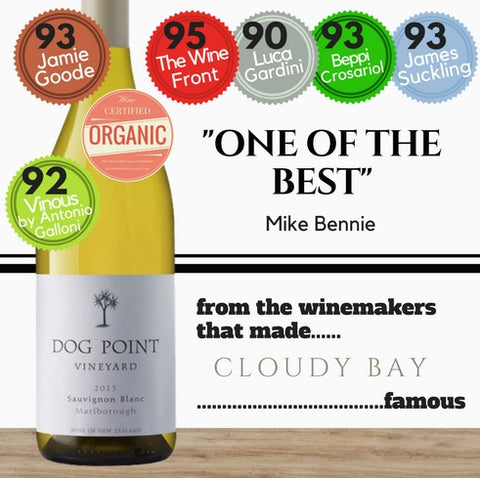 Dog Point Sauvignon Blanc (Organic) 2015 ~ Marlborough, New Zealand