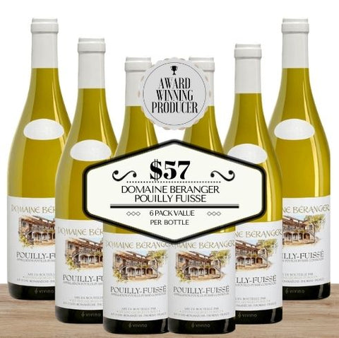 Buy this 6 pack of Domaine Beranger Pouilly Fuisse from Pop Up Wine, Singapore's favourite online wine store. Buy in bulk and save. Perfect box of champagne for events, parties, weddings, and gifts. Same-day wine and champagne delivery today to your door.
