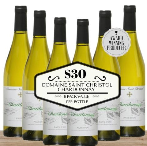 Domaine Saint Christol Chardonnay 2018 - 6 Pack Value