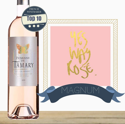 "Salin ""Domaine de Tamary"" Cotes de Provence Rosé 2014. Magnum of Provence Rose wine from France. Same day delivery. Buy wine online. Pop Up Wine Singapore."
