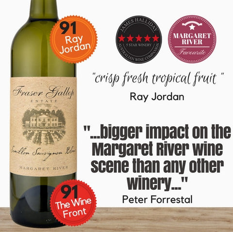"Fraser Gallop ""Estate"" Semillon-Sauvignon Blanc 2016. Vibrant and refreshing Margaret River SSB.  Free delivery available from Pop Up Wine, Singapore."