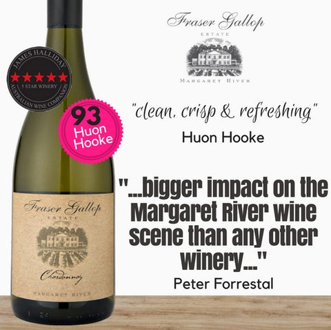 "Fraser Gallop ""Estate"" Chardonnay 2016. Top Margaret River white wine.  Free delivery available from Pop Up Wine, Singapore."