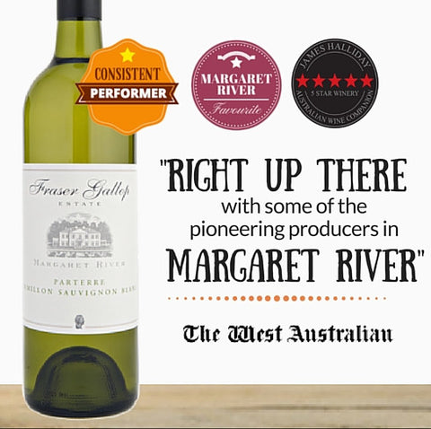 "Fraser Gallop ""Parterre"" Semillon Sauvignon Blanc 2014. Premium Australian white wine. Singapore wine shop Pop Up Wine. Free Delivery. Free Delivery for 2 doz."