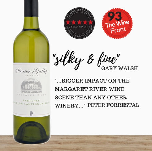 "Fraser Gallop ""Parterre"" Semillon Sauvignon Blanc 2016. Premium Australian white wine. Singapore wine shop Pop Up Wine. Free Delivery. Free Delivery for 2 doz."