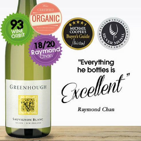 Top Organic Sauvignon Blanc from New Zealand. Buy this premium white wine by Greenhough. Only from Pop Up Wine. Buy low price wine online in Singapore. Same day delivery.