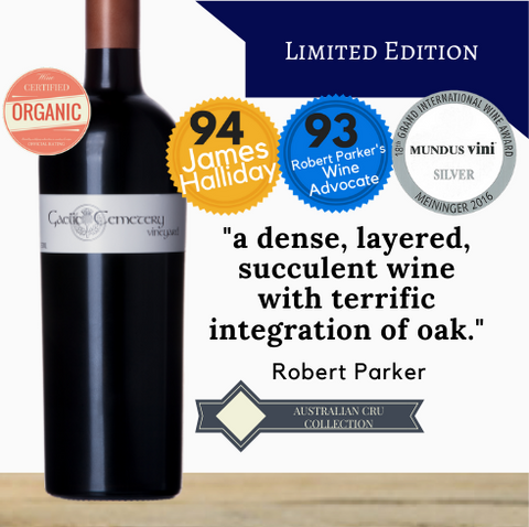 From the Clare Valley region in Australia comes this award-winning red wine. Shiraz from the Gaelic Cemetery vineyard. Rated very highly by James Halliday. A best selling Shiraz delivered to you from Singapore's favourite wine store, Pop Up Wine. Buy online. Contactless delivery same day.