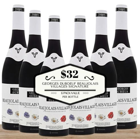 Georges Duboeuf Beaujolais Villages Signature 2018 - 6 Pack Value