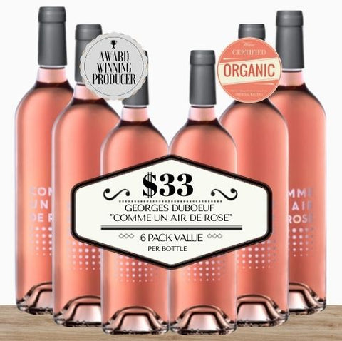 "Georges Duboeuf ""Comme Un Air De Rose"" (Organic) 2019 - 6 Pack Value"