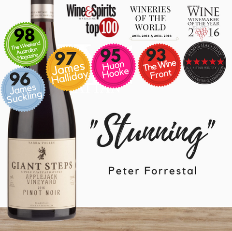 "Giant Steps Pinot Noir ""Applejack Vineyard"" Pinot Noir 2019. Australian fine red wine. Available at best price only from Pop Up Wine in Singapore. Same day delivery."
