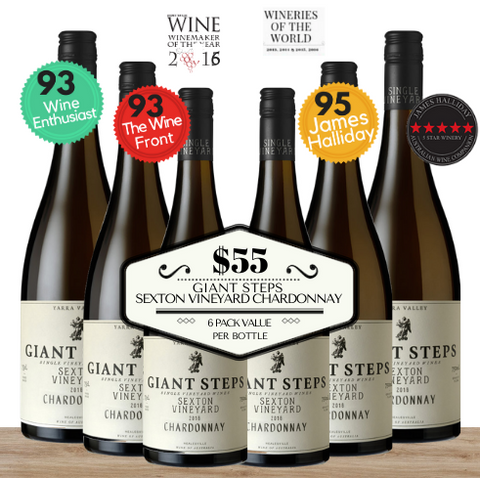 "Buy now this 6 pack Giant Steps ""Sexton Vineyard"" Chardonnay 2018 ~ Yarra Valley Australia. Only from Pop Up Wine, an online wine shop which guarantees fast delivery of premium discount wine. Buy now and get it delivered today. Select these low priced wine packs and wine delivered same-day, any day. We even deliver wine Saturdays and Sundays. Save delivery fees by buying 24 wines when we'll deliver free."