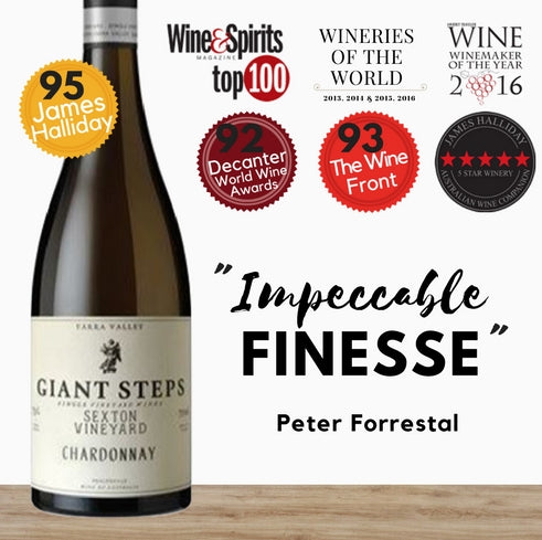 Giant Steps Australian Chardonnay white wine. Affordable fine wines available at Pop Up Wine online store in Singapore. Fast delivery guaranteed.