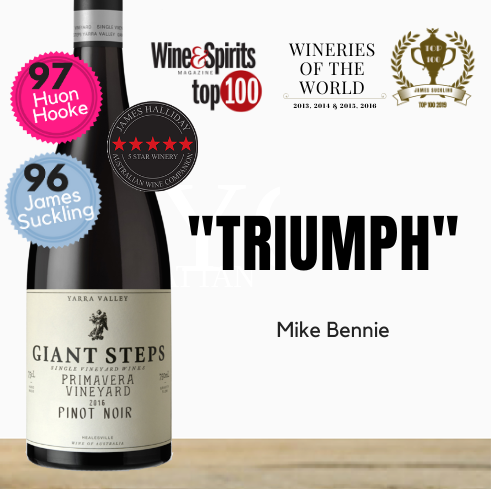 "Multi-award winner Giant Steps ""Primavera Vineyard"" Pinot Noir 2018.  Buy online from Pop Up Wine. Singapore's low price store."