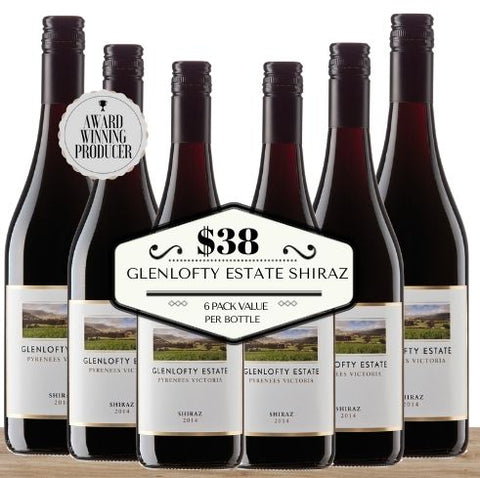 Buy this 6 pack of Glenlofty Estate Shiraz from Pop Up Wine, Singapore's favourite online wine store. Buy in bulk and save. The perfect box of champagne for events, parties, weddings, and gifts. Same-day wine and champagne delivery today to your door.