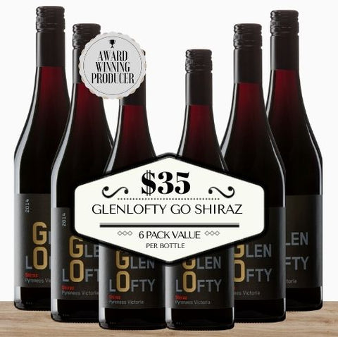 Glenlofty GO Shiraz 2017 - 6 Pack Value