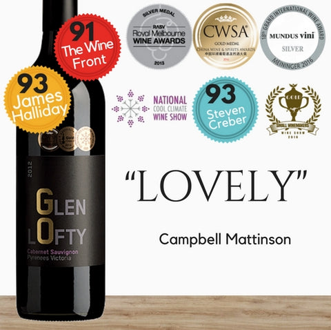 Glenlofty Premium Australian Cabernet Sauvignon red wine. Order online from Pop Up Wine  store of affordable wines in Singapore. Fast delivery in 24 hours