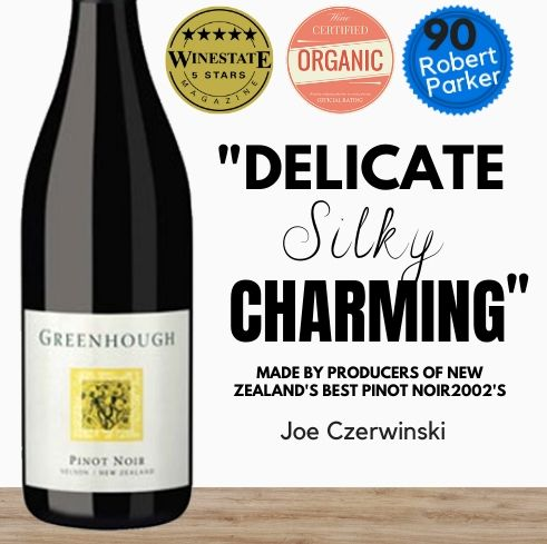 Greenhough Pinot Noir (Organic) 2016 ~ Marlborough, New Zealand