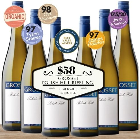 Grosset Polish Hill Riesling  2019 ~ 6 pack value