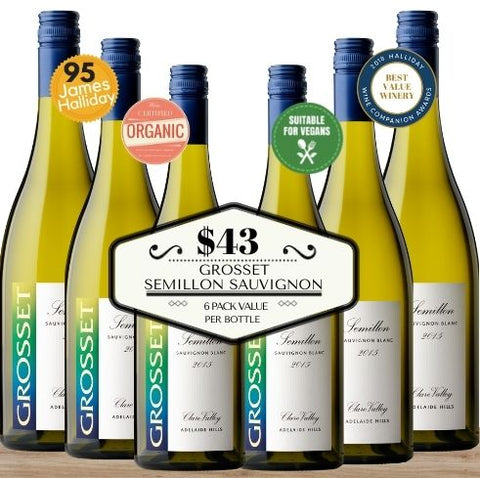 Six bottles of Grosset Semillon Sauvignon Blanc 2016 from Clare Valley, South Australia. Order today this great value wine box from Pop Up Wine, Singapore's favourite online wine store. Wine delivery today to your door. Contactless delivery available and same-day delivery. This premium white wine is the most affordable way to buy wine for events, parties and celebrations. Buy by the box and carton and save. Free delivery of any 24 wines.