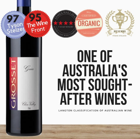Certified Organic Cabernet Sauvignon by Grosset 2014, Australian red wine. Available online from Pop Up Wine, online store of great value wines in Singapore. One day delivery.
