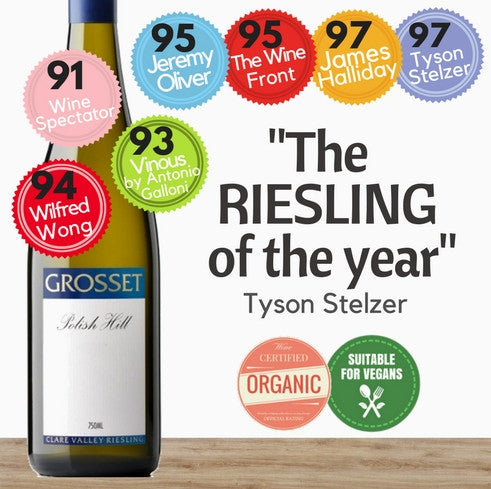"Grosset ""Polish Hill"" Riesling 2014 (Certified Organic, Vegan) ~ Clare Valley, South Australia"