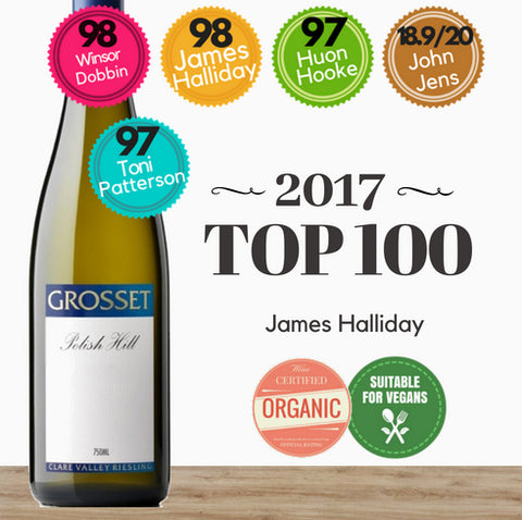 Grosset Polish Hill 2017 Australian Riesling organic white wine. Great value from Pop Up Wine online store in Singapore. Order today, delivery today.