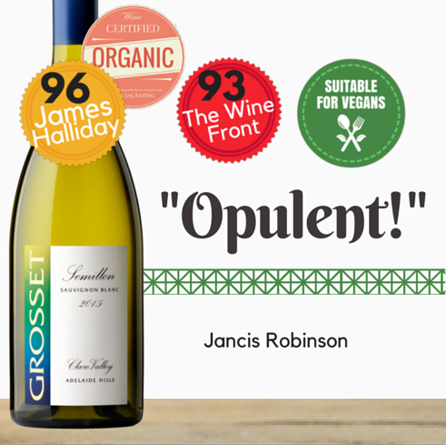 Premium wine. Outstanding Grosset Semillon Sauvignon Blanc. Organic. Same day delivery. Free delivery for 2 dozen. Pop Up Wine Singapore. Buy online wine.