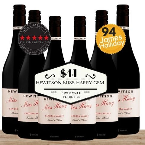 Buy this 6 pack of Hewitson Miss Harry GSM from Pop Up Wine, Singapore's favourite online wine store. Buy in bulk and save. Perfect box of champagne for events, parties, weddings, and gifts. Same-day wine and champagne delivery today to your door.