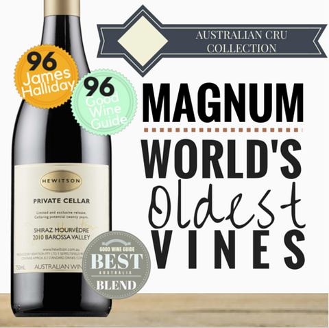 "Magnum ""Australia's Best Blend"" Hewitson Private Cellar Shiraz Mourvedre. From Pop Up Wine's Australian Cru Collection. Same day delivery - free delivery 2 doz."