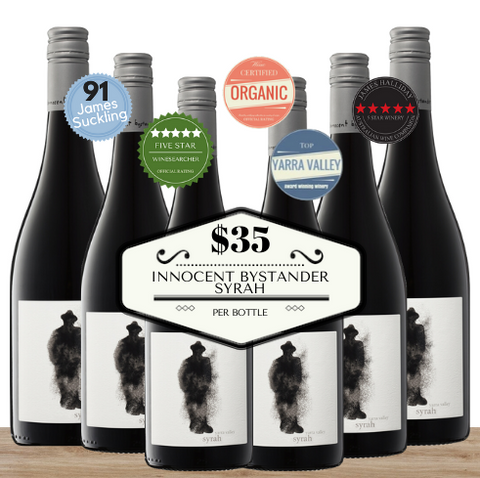 Buy this 6 value Innocent Bystander Syrah pack from Pop Up Wine, Singapore's favourite online wine store. Buy bulk Syrah and save. Perfect box of champagne for events, parties, weddings, and gifts. Same-day wine and champagne delivery today to your door.