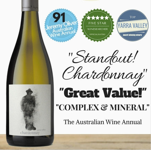 Yarra Valley Chardonnay by Innocent Bystander. Available from wine company in Singapore, Pop Up Wine. Cheap Premium Australian & NZ wine & champagne. Same day delivery, free for 2 dozen.
