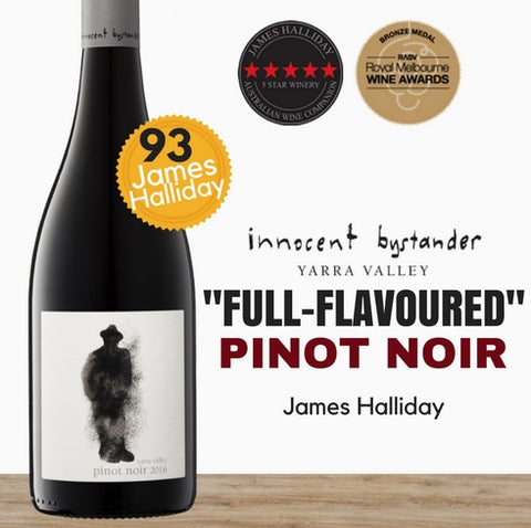 Consistently award winning 2016 Innocent Bystander Pinot Noir from the Yarra Valley. Pop Up Wine is an online wine retailer, same day delivery ~ free for 2doz