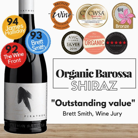 Organic Barossa shiraz. An excellent red wine from Pop Up Wine ~ Singapore's best wine store. Delivered today. Buy wine online. Free delivery for 2 dozen.