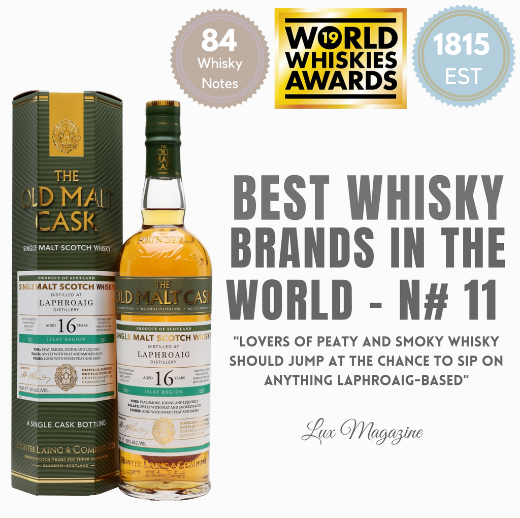 N# 11 BEST WHISKY BRANDS IN THE WORLD - Lahroaig from Pop Up Wine in Singapore