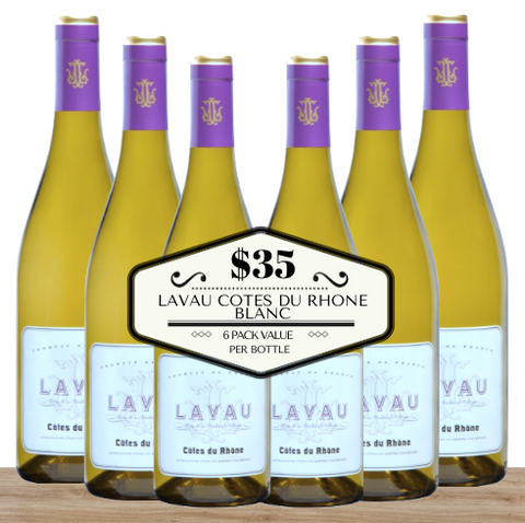 Buy this 6 pack of Lavau Cotes du Rhone Blanc from Pop Up Wine, Singapore's favourite online wine store. Buy in bulk and save. The perfect box of champagne for events, parties, weddings, and gifts. Same-day wine and champagne delivery today to your door.