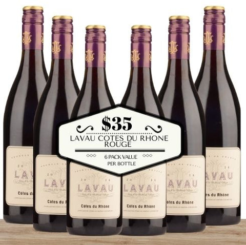 Buy this 6 pack ofLavau Cotes du Rhone Rouge from Pop Up Wine, Singapore's favourite online wine store. Buy in bulk and save.