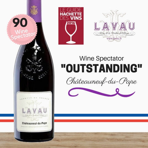 Lavau Châteauneuf-du-Pape 2012 (Grenache, Syrah, Mourvèdre). Highly rated French red wine. Pop Up Wine Singapore. Same day delivery and free delivery for 2 doz
