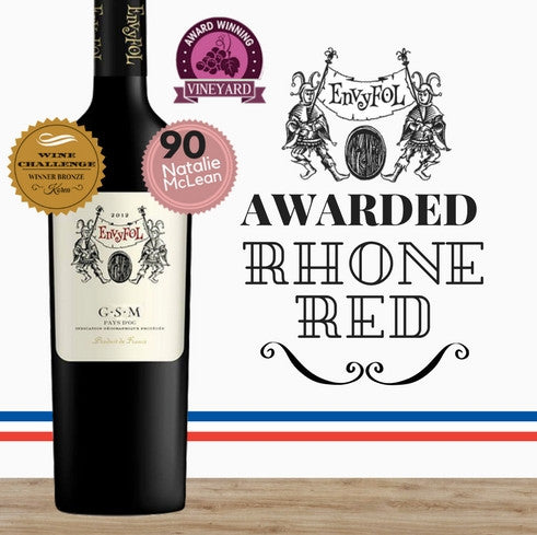 Lavau EnvyFol GSM 2013. French red wine. Award winning winemaker. Great value wines ~Pop Up Wine Singapore. Same day delivery