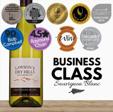 New Zealand Sauvignon Blanc white wine by Lawson's Dry Hills. Cheap premium wine available online at Pop Up Wine in Singapore. Delivery in 24 hours daily.