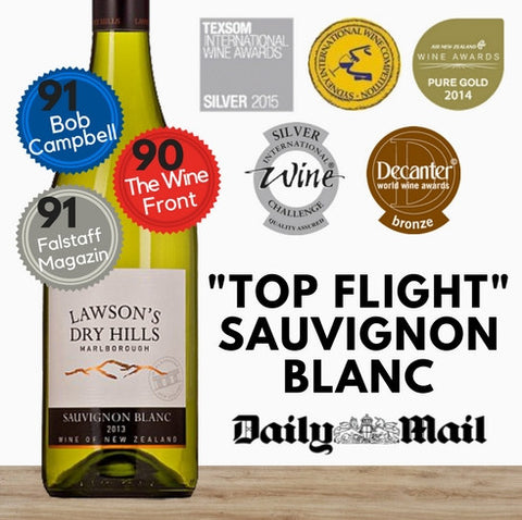 Lawson's Dry Hills Sauvignon Blanc 2013 ~ Marlborough, New Zealand