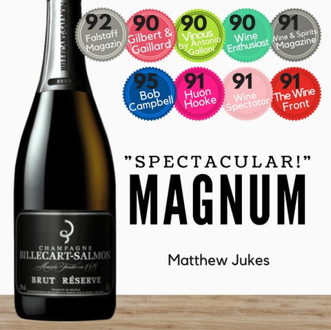 Billecart Salmon French Champagne Magnum. Special discount available from Pop Up Wine in Singapore. Guaranteed fast delivery.
