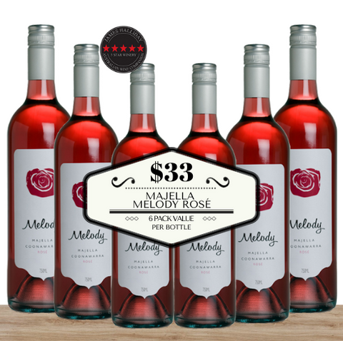 Buy this Majella Melody Rosé 2018 from Coonawarra from South Australia. 6 pack value wine from Pop Up Wine, Singapore's favourite online wine shop. Same-day wine delivery. Delivered today to your home or office. Pop Up Wine is an online wine shop which guarantees fast delivery of premuim discount wine. Buy today. Free delivery of your wine for any 24 wines. Buy bulk for your event and save. Perfect for weddings, parties, celebrations, Christmas, New Year, and work events and functions.