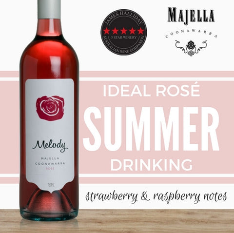 Melody Rose by Majella. Light & elegant Australian Rose wine from Singapore online wine company Pop Up Wine. Same day delivery. Great value Premium wines.