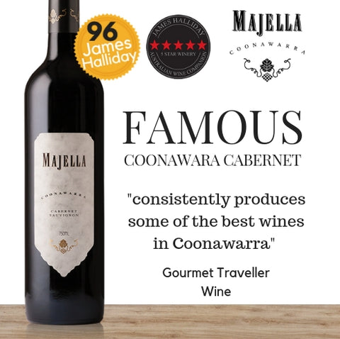 Majella Award winning Australian Cabernet Sauvignon from Pop Up Wine Singapore. Best affordable wines available for same day delivery.