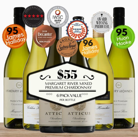 Margaret River Mixed Premium Chardonnay ~ 6 Pack Value