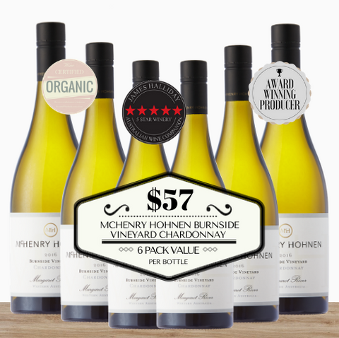 Buy this 6 pack of McHenry Hohnen Burnside Vineyard Chardonnay from Pop Up Wine, Singapore's favourite online wine store. Buy in bulk and save. The perfect box of champagne for events, parties, weddings, and gifts. Same-day wine and champagne delivery today to your door.