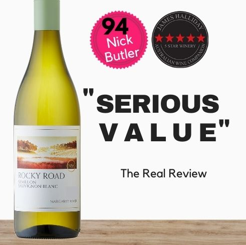 """McHenry Hohnen Rocky Road Semillon Sauvignon Blanc.  Available from wine company in Singapore, Pop Up Wine. Cheap Premium Australian & NZ wine & champagne. Same day delivery, free for 2 dozen. """