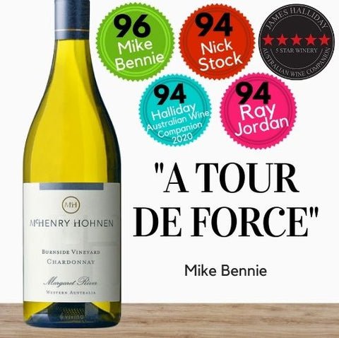 Buy this Chardonnay white wine from highly rated winery, McHenry Hohnen. Available online from Pop Up Wine, the premiere online wine retailer in Singapore. get Same-day contactless wine delivery today. Free wine delivery available.