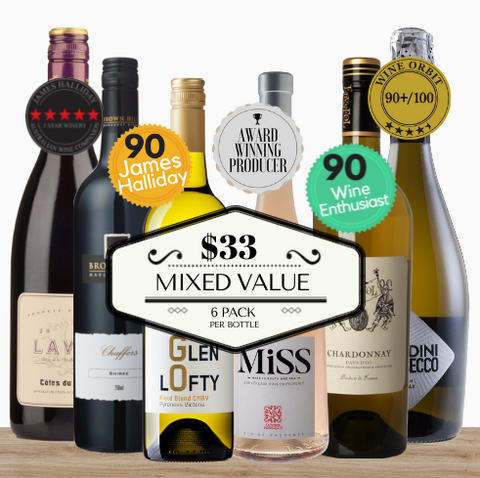 Premium Value ~ Variety 6 pack of highly rated red, white and sparkling wines. Buy in bulk and save. Only from Pop Up Wine. Contactless Same day wine delivery Singapore. Same day and free delivery available 7 days.