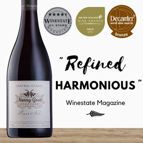 Nanny Goat 2015 Pinot Noir. Premium Pinot Noir from Central Otago. Buy wine Singapore from online wine shop. Same day delivery, free delivery for 2 dozen.